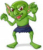 Illustration of a green goblin