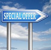 special offer sign limited exclusive bargain promotion low hot price best value