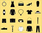Clothes and accessories icon