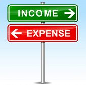 Income And Expense Directions Sign