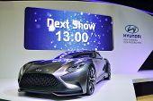 Nonthaburi - December 1: Hyundai Hnd 9 Concept Car Display At Thailand International Motor Expo On D