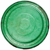 Old Grungy Green Cooking Pot Lid