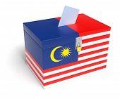 Malaysian Flag Ballot Box
