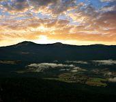 Sunset over the Bavarian Forest National Park