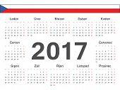 Vector Czech Circle Calendar 2017