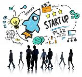 Start Up Business Launch Success Business Commuter Concept
