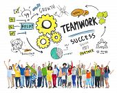 Teamwork Team Together Collaboration People Celebration Success Concept