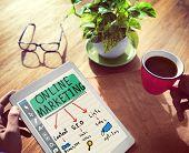 Digital Device Online Marketing Concept