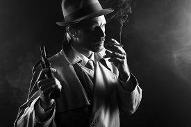 stock photo of revolver  - Film noir - JPG