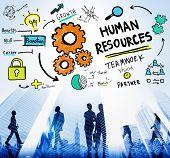 foto of recruiting  - Human Resources Employment Job Recruitment Profession Concept - JPG