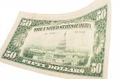 stock photo of fifties  - Fifty dollar banknote - JPG