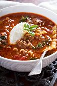 pic of ground-beef  - Lasagne soup with ground beef - JPG