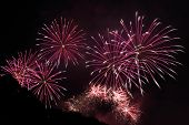 image of firework display  - beautiful Fireworks display at the night sky - JPG