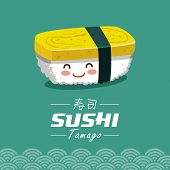 picture of sushi  - Vector sushi cartoon character illustration - JPG