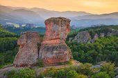 stock photo of rocking  - The Belogradchik Rocks at sunset Bulgaria - JPG