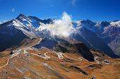 foto of mountain-high  - Famous picturesque views of the road in Austrian Alps  - JPG