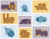 image of gerbil  - Zoo animals icons  - JPG
