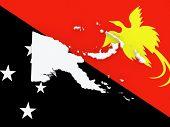 stock photo of guinea  - Map of Papua  - JPG
