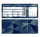stock photo of boarding pass  - Airline boarding pass ticket for business class - JPG