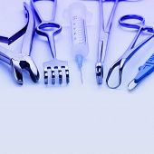 picture of surgical instruments  - Close - JPG
