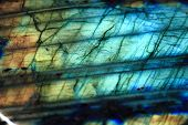 stock photo of labradorite  - labradorite mineral as nice natural blue background - JPG