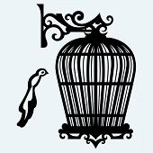 image of caged  - Vintage bird cages - JPG