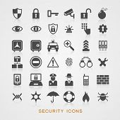 picture of cctv  - Set security icons - JPG
