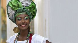 image of traditional  - Brazilian woman of African descent - JPG