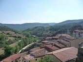 View of the village of Frias, in Spain