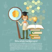 Science And Education: Students, Professors, Power, Brain, Education, Ideas, An Open Book, Knowledge poster