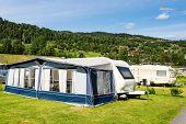 ������, ������: Modern Caravan At Camping Site