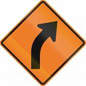 Постер, плакат: Right Curve Ahead In Canada