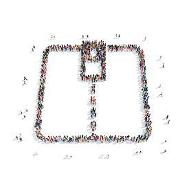 image of zipper  - A group of people in the shape of a zipper  - JPG
