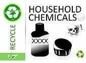 stock photo of reprocess  - Please recycle household chemicals - JPG