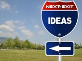 Ideas road sign