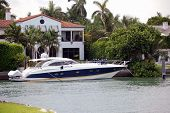 Small Blue Yacht