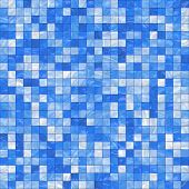 smooth irregular blue background of bathroom or swimming pool tiles or wall, tiles seamlessly as a pattern