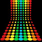 rainbow dots pattern