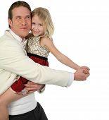 Vader en dochter dansen In Formals wordt dom