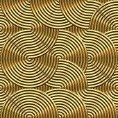 large golden swirls that tile seamless as a pattern