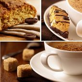 Delicious coffee.Collage