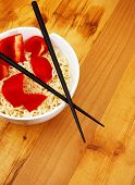 Chinese Noodles With Chop Sticks poster