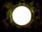 Round Window on grunge old surface