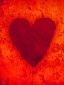 Heart symbol on grunge background