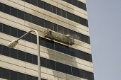 Window Washer Washing Tall Building