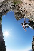 stock photo of terrific  - Terrific view of a climbing route - JPG