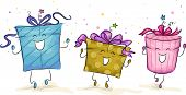 Illustration of Gifts Dancing With Glee