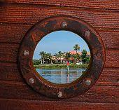 Rustic Porthole View