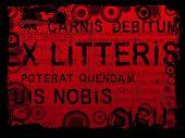 Latin Text Grunge Background 2
