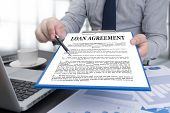Loan Agreement Business Support Document And Agreement Signing poster